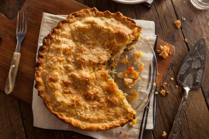 Traditional Turkey And Stuffing Pie