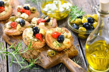 Marinated Feta With Greek Olives And Roasted