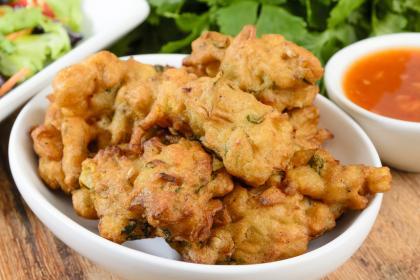 Onion & Mushroom Bhajis