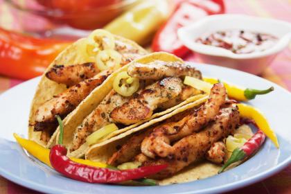 Hot Spicy Chicken Tortillas