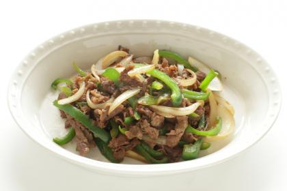 Chinese Beef With Green Pepper (Lot Tzu Ngow Roh)