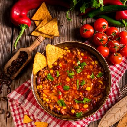 Quick Veggie Chilli Con Queso