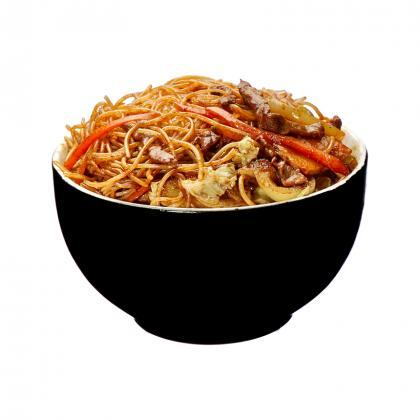 Stir-Fried Ginger Beef With Spaghetti
