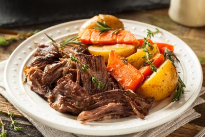Brisket With Sweet Potatoes