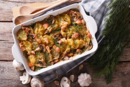 Creamy Spinach And Beef Layered Casserole
