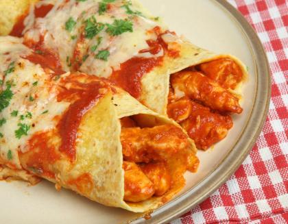 Spicy Mexican Chicken Enchiladas