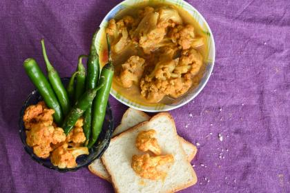 North Indian Chicken & Cauliflower Curry