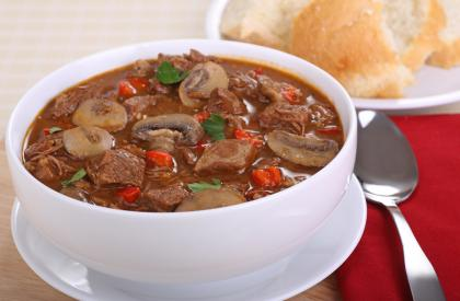 Mexican Chilli Beef, Onion And Mushroom Stew