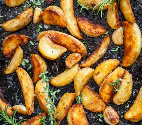 Easy Oven Peppered Potatoes