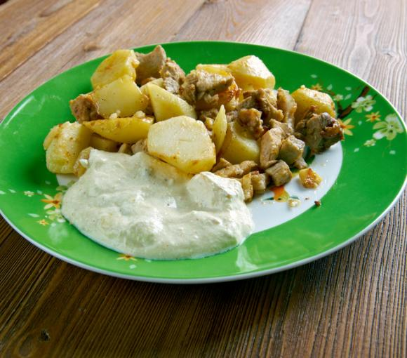 Pork Chops And Mustard-Sauced Potatoes
