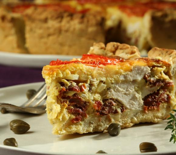 Chicken And Potato Quiche