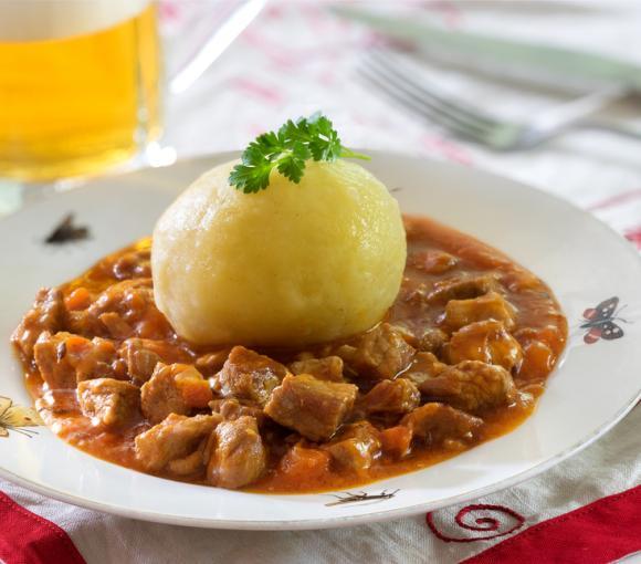 Bavarian Stew With Potato Dumplings