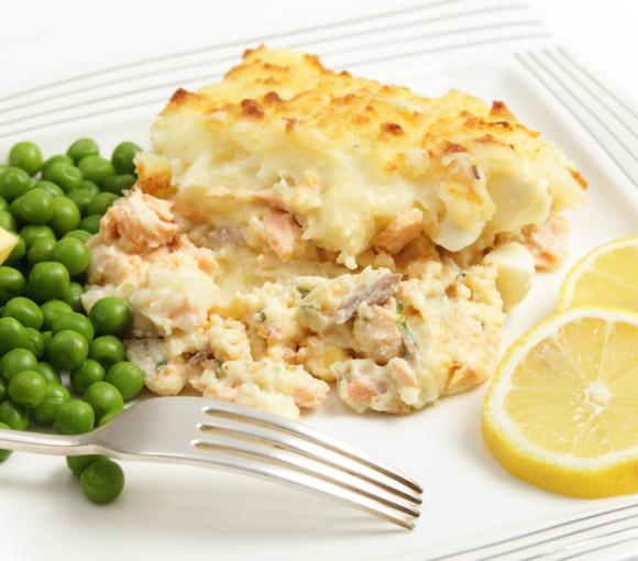 Salmon Potato Pie