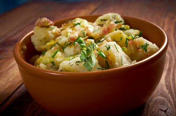 Onepot Hot German Potato Salad