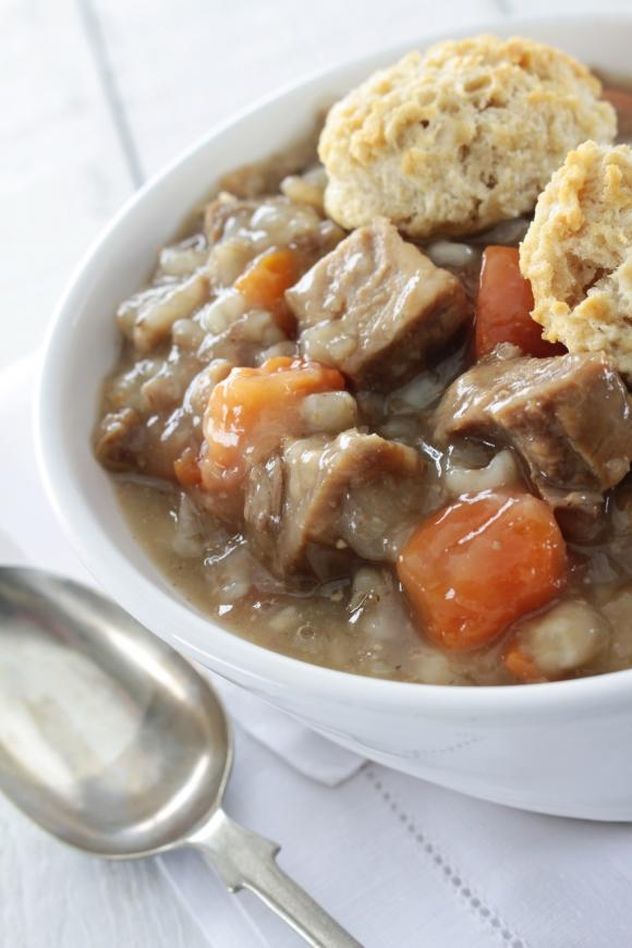 Traditional Lamb Stew With Parsley Dumplings