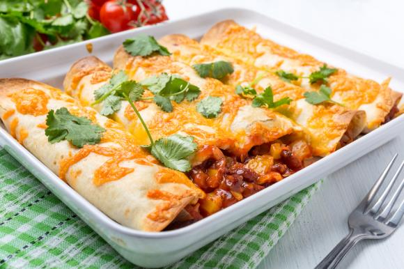 Chilli And Cheese Enchiladas