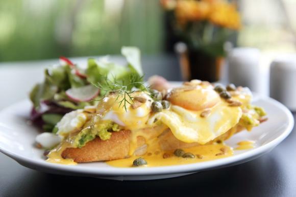 Mushroom Scrambled Ham And Eggs
