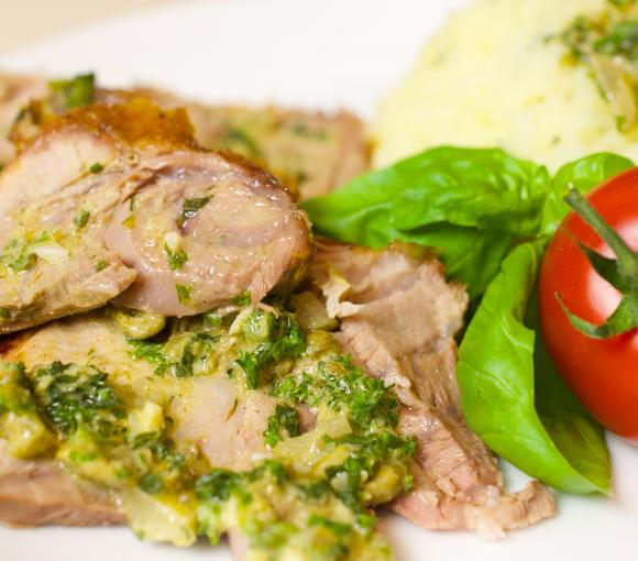 Leg Of Lamb With Lemon-Mint Sauce