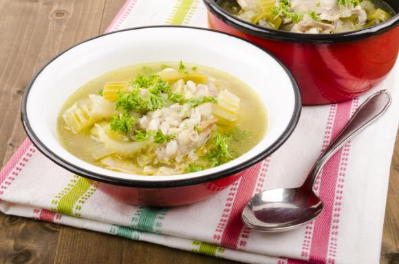 Cock-A-Leekie (Chicken And Leek Soup)