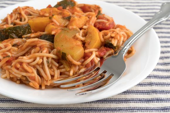 Pasta With Courgette And Spinach