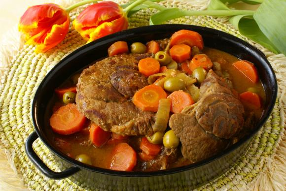 Moroccan Brisket With Olives