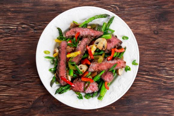 Asparagus & Beef With Black Beans