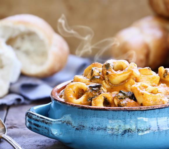 Tortellini Stew With Autumn Vegetables