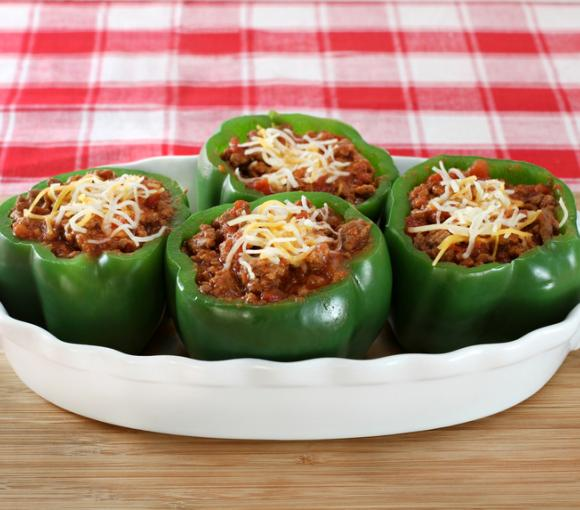 Beef-Stuffed Peppers With Cheese