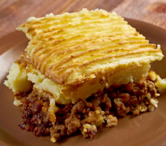 Minced Beef Pie With Creamed Potato Topping