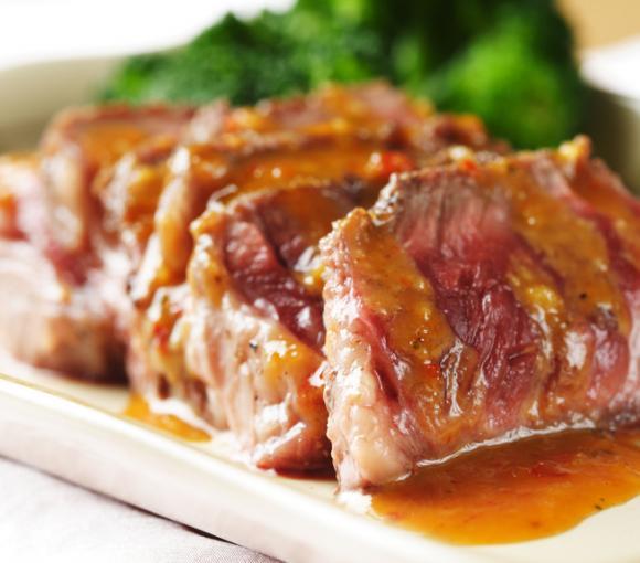 Steak With Thai Peanut Sauce