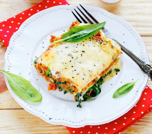 Hearty Spinach & Mushroom Lasagna