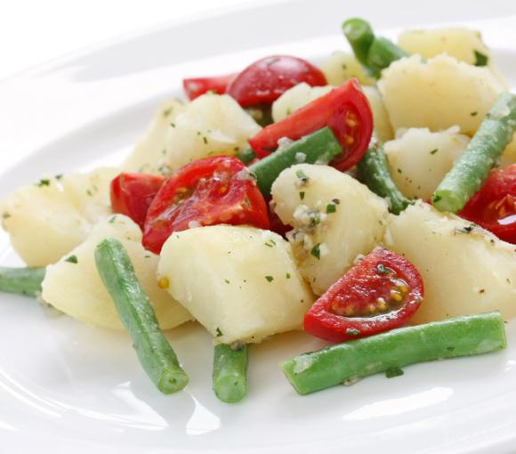 Greek Potato Salad With Green Beans And Tomatoes