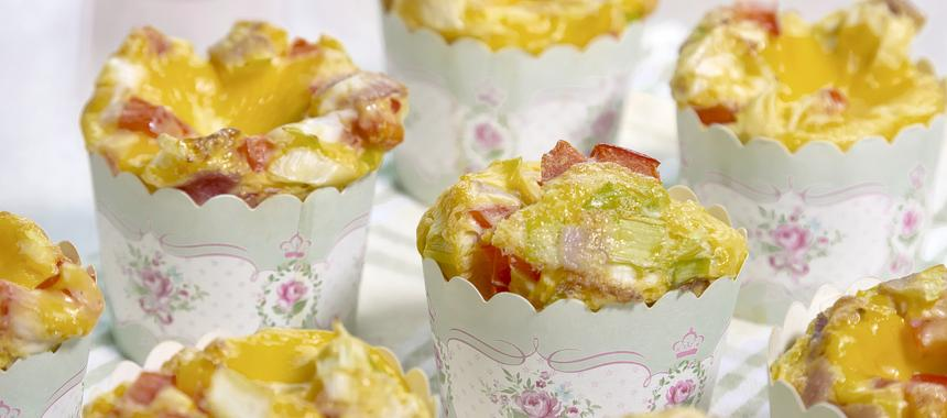 Scrambled Egg Cupcakes With Cheddar Cheese Frosting recipe