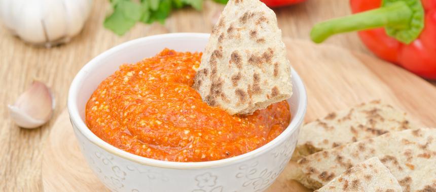 Spicy Roasted Pepper Dip recipe