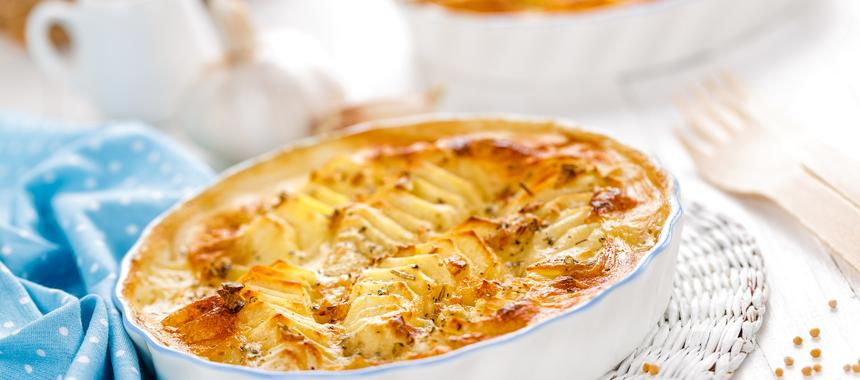Scalloped Potatoes With Sausage And Peppers recipe