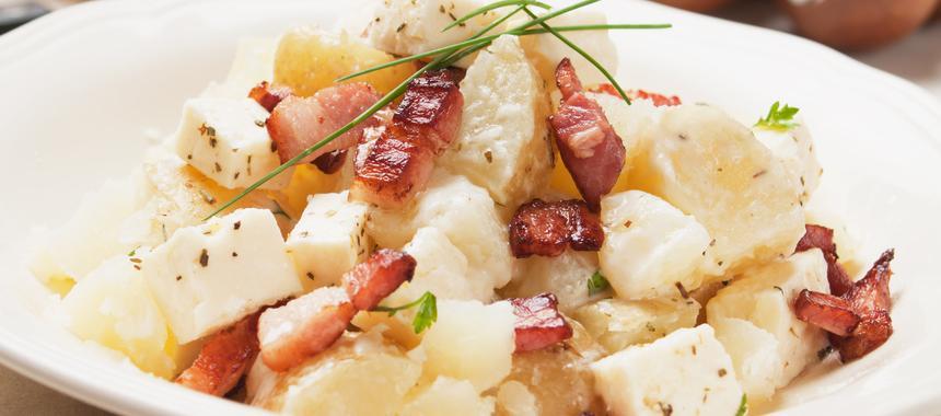 Hot Potato Salad With Bacon Specks recipe