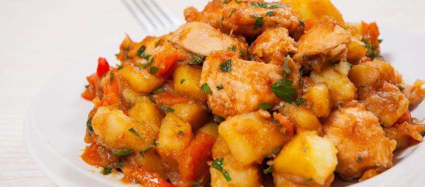 Chicken, Potato And Pepper Stew recipe