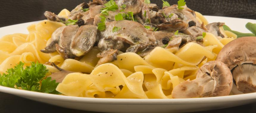Bean And Mushroom Stroganoff recipe