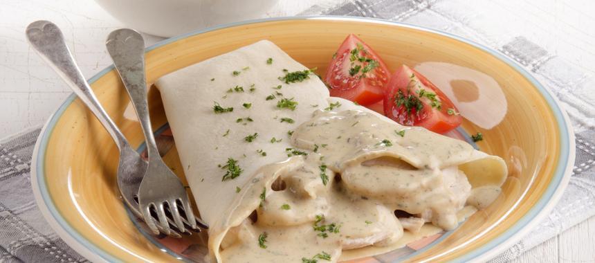 Turkey Crepes Mornay recipe