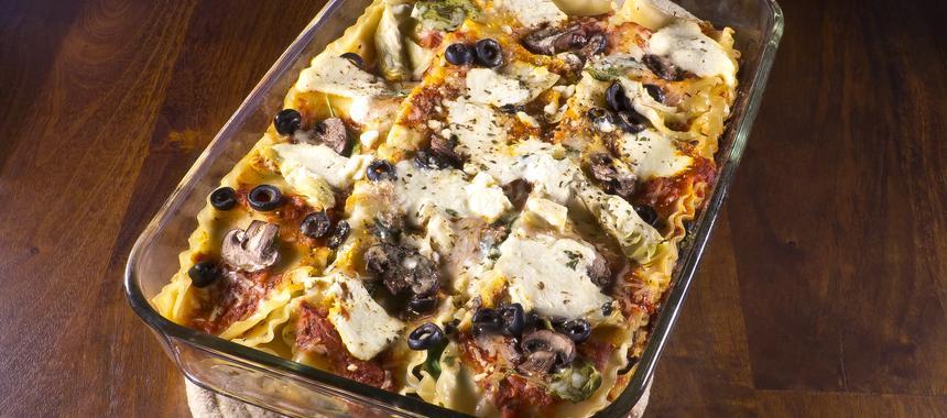Mushroom And Artichoke Lasagna recipe