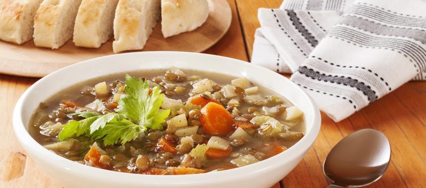 Green Lentil Soup With Lemon recipe