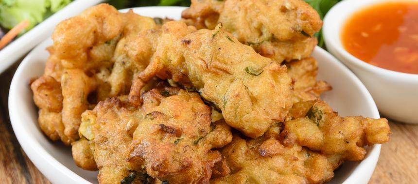 Onion & Mushroom Bhajis recipe