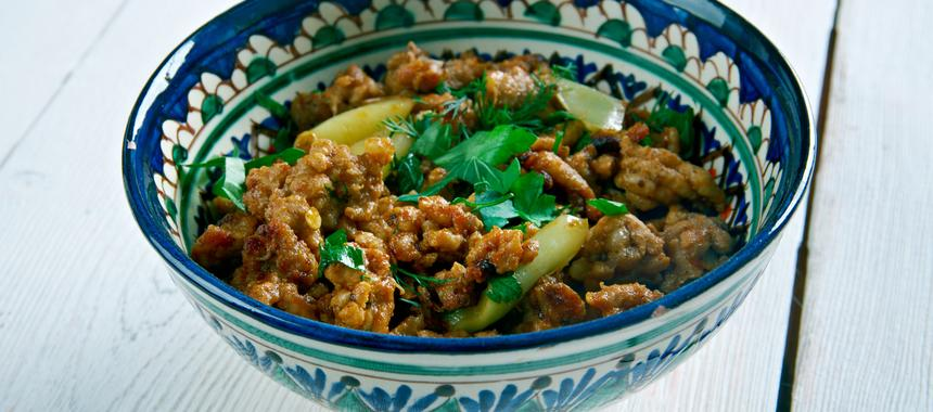 Indian Keema With Ginger recipe