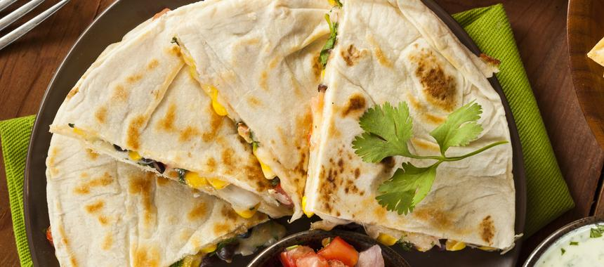 Butter Bean And Feta Cheese Quesadillas recipe