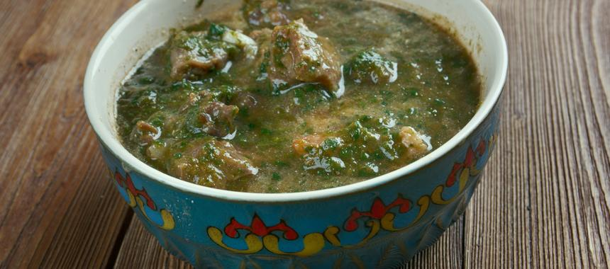 Lamb With Spinach recipe
