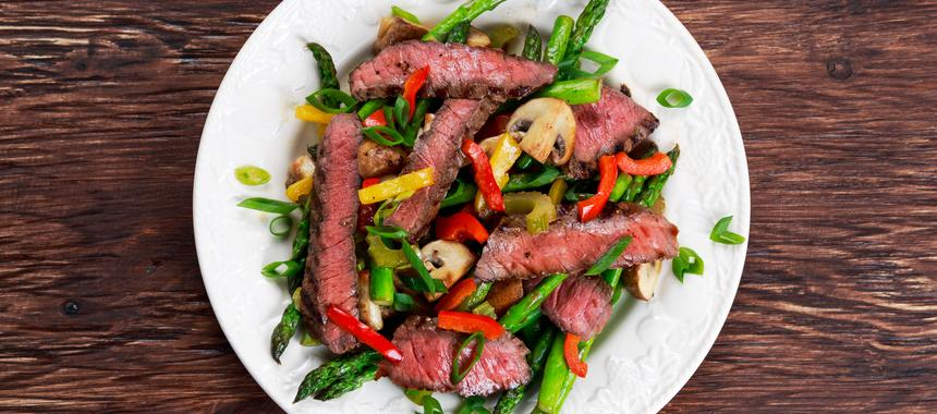 Asparagus & Beef With Black Beans recipe