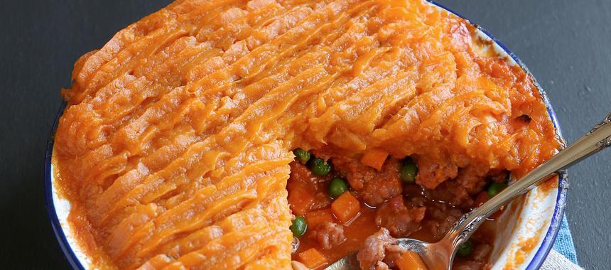 Meat And Sweet Potato Pie recipe