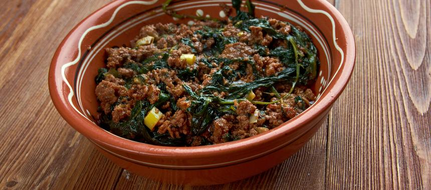 Shoko (Beef And Spinach Stew) recipe