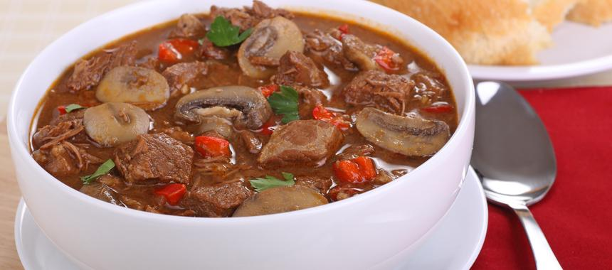 Mexican Chilli Beef, Onion And Mushroom Stew recipe