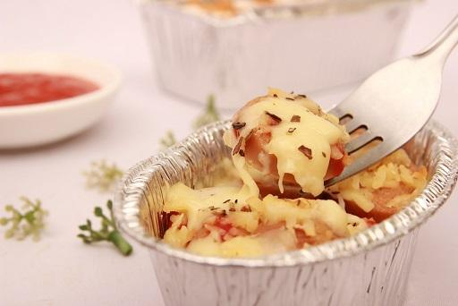 Individual Sausage And Pasta Bakes recipe